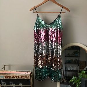 NWT Express sequin dress